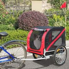 Foldable Pet Bike Trailer & Jogging Stroller Cargo Trolley Storage Cart Dog Bike Trailer Carrier Mount HWC