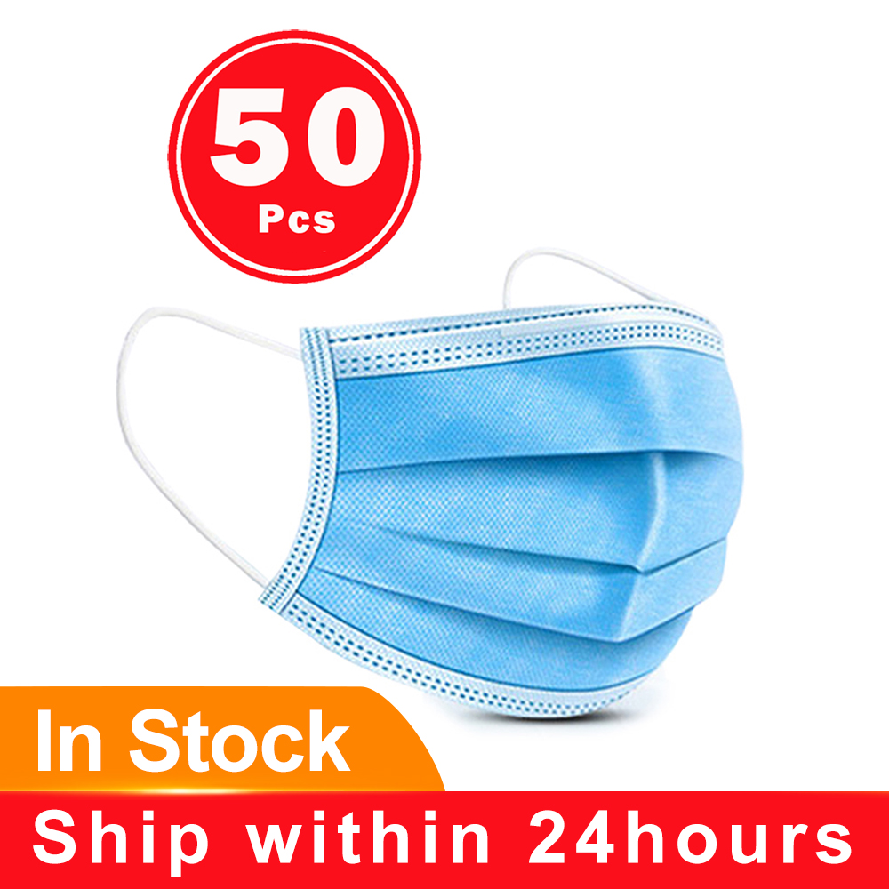 In Stock Disposable Mask Surgical Mask Face Mask Masks Mouth Filter Anti Bacteria Face Mask Breathable Flu Hygiene Face Mask