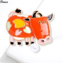 Ювелирные изделия donia модная одежда с принтом милой коровы;