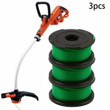 3PCS Trimmer Spool Lines Replacement For Black & Decker GL7033 GL8033 GL9035 Strimmer A6482 Grass Weeds Trimmer Head Tools