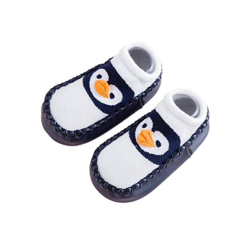 Brand New Toddler Newborn Baby Boys Girls Animal Crib Shoes Infant Cartoon Soft Sole Non-slip Cute Indoor Shoes Socks/Slippers