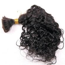 Human-Hair Braiding No-Weft Loose-Wave Black-Color Indian Natural Short Bulk for 3pcs/Lot