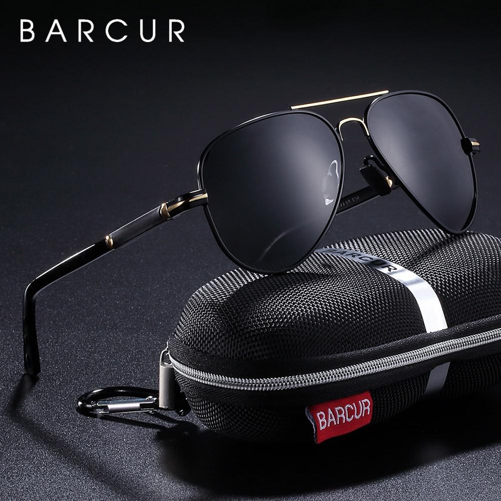 BARCUR Polarized Mens Sunglasses Pilot Sun Glasses For Men Accessories Driving Fishing Hiking Eyewear Oculos Gafas De Sol