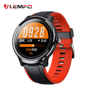LEMFO SN80 Full Round Touch Screen Smart Watch Men IP68 Waterproof 3D UI Weather Heart Rate Monitor Long Standby Time Smartwatch