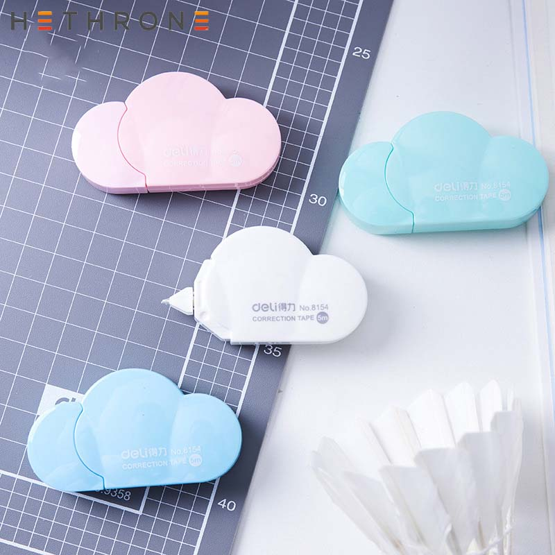 Hethrone New Arrival 1PC Cartoon Popular Mini Small Clouds Shaped Correction Tape Altered Tapes School Writing Corrector Tools G image