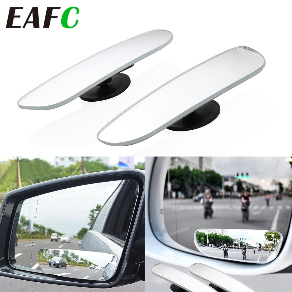 2 pçs espelho do carro de 360 graus grande angular convexo ponto cego espelho estacionamento auto motocicleta espelho retrovisor ajustável acessórios