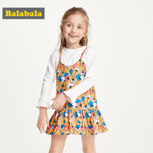 Balabala Girl Princess Dress New Summer Kid Girls Dress Floral Sweet Children Party Suits Butterfly Costume Children Clothing