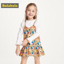 Balabala ילדה נסיכת שמלה חדש קיץ ילד בנות שמלה פרחוני מתוק ילדי מסיבת חליפות פרפר תלבושות ילדי בגדים