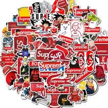 100 pçs maré logotipo marca de moda graffiti adesivos portátil macbook copo guitarra bagagem geladeira skate bicicleta decalque adesivo