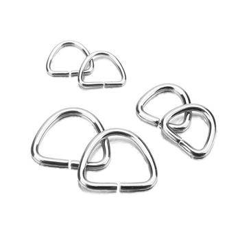 30/50/100Pcs Stainless Steel Bracelet Necklace Pendant Connector Bail Clasps Claw Charms Hooks Crimps End Jewelry DIY