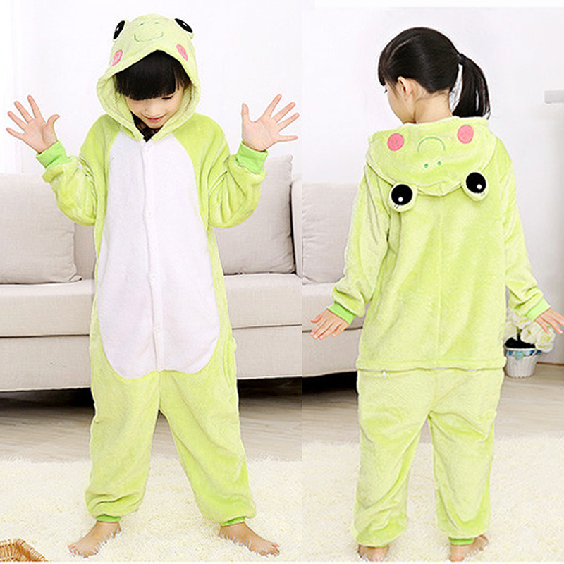 Green Frog Jumpsuit Animal Anime Cosplay Costumes Suits Boys/Girls Kids/adult Party Clothes Halloween Children's Day Gift 2