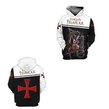 Tessffel Knight Templar cavalie Tracksuit casual unisex Harajuku fashion 3DPrint Hoodie/Sweatshirt/Jacket/shirts Men Women s-11