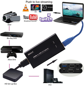 Image 5 - 1080P 60fps HD Camera Game Recording HDMI to USB Video Capture Card Box For Mac Winodws OBS Live Streaming + Mic input TV Output