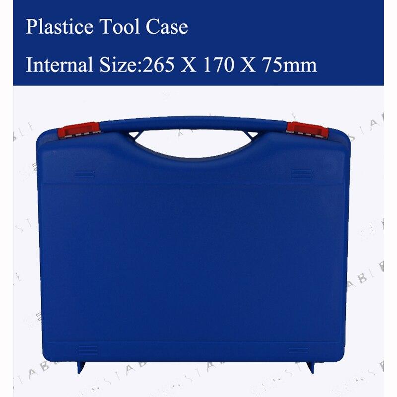 Kunststof gereedschapskoffer koffer gereedschapskist Slagvaste veiligheidskoffer apparatuur Instrumentendoos uitgerust met voorgesneden schuim