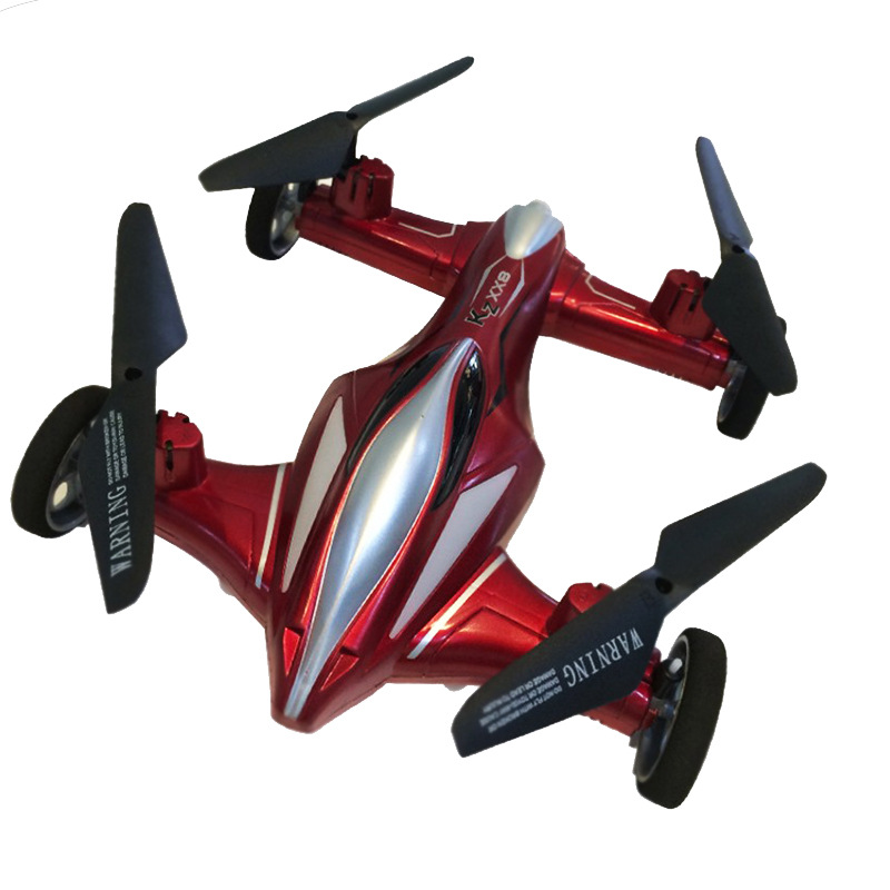 XX8 Air Dual-Mode Dual Purpose Unmanned Aerial Vehicle Photo Shoot Video Quadcopter Remote-control Automobile Model Plane Dron