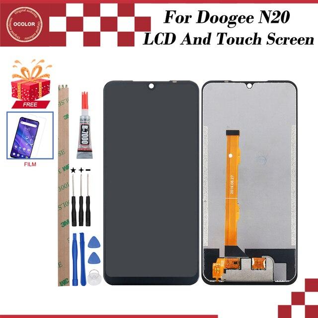 Ocolor Voor Doogee N20 Lcd scherm En Touch Screen Digitizer Vergadering 6.3 Voor Doogee N20 Screen Vervanging + Gereedschap + Case