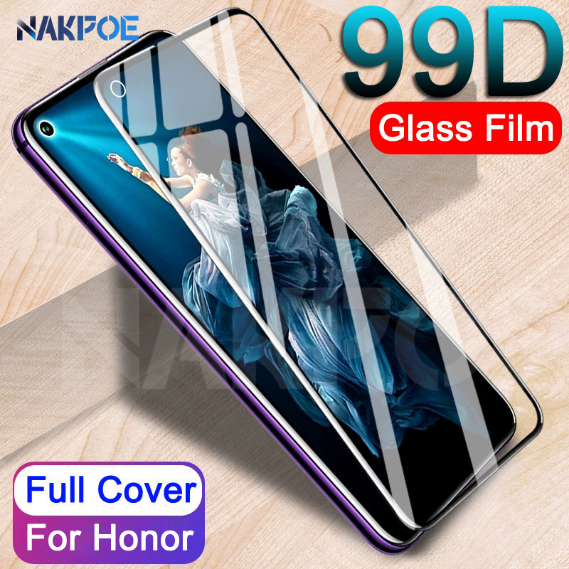 99D Protective Glass On The For Huawei Honor 20 10 9 8 Lite Honor 9X 8X V20 V10 V9 Tempered Screen Protector Safety Glass Film