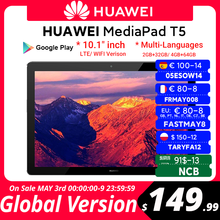 CODE:FASTMAY8 80€-8 off Globale Version HUAWEI MediaPad T5 4GB 64GB Tablet PC 10,1 zoll Octa Core Dual Lautsprecher 5100 mAh Unterstützung microSD Karte Android 8,0
