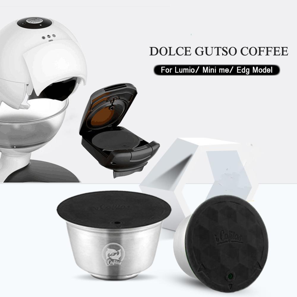 스테인레스 금속 rusable dolce gusto 필터가있는 nescafe에 적합 uesed 200 time coffee ground tamper 커피 스푼 클립