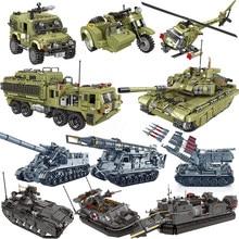 Tanques de veículos militares conjuntos ww2 jeep modelo de máquina blocos de construção tijolos ac130 guerra mundial 2 ii 1 criador caminhão blindado