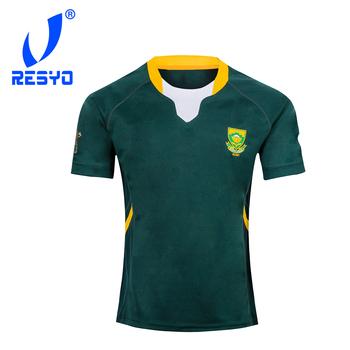 RESYO dla rpa RUGBY 2019 Home Away JERSEY sportowa koszula S-5XL tanie i dobre opinie NoEnName_Null Krótki Poliester Koszulki 2019 South Africa Pasuje prawda na wymiar weź swój normalny rozmiar