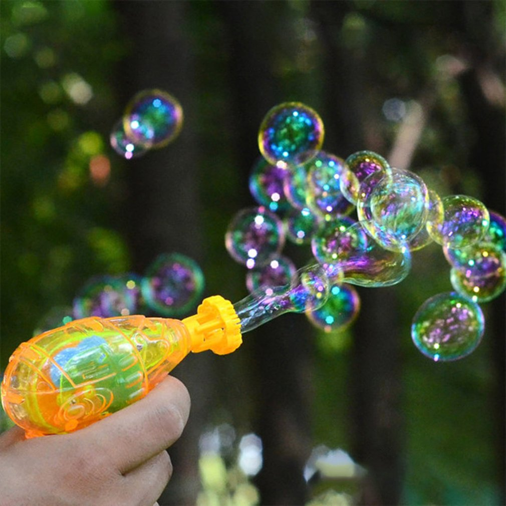 Bubble Blower Machine Toy Kids Soap Water Bubble Gun Cartoon Water Gun Gift For Children Manual Gun Blower Blowing Bubble Gun