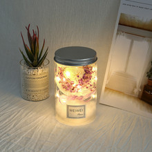 Dried Flowers Bouquet Star Lights Wishing Bottle Home Decor Best Gifts Party Holiday Romantic Wedding String Lights Lamp cheap Button Battery Wedding Holiday Christmas Decor Led String Light Decor Holiday Wedding Christmas Party Heart Shape Lamp