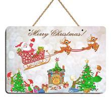 Santa Claus ciervo árbol de Navidad Vintage signo de Navidad cartel placa Bar Pub tienda café hogar placa decoración de la pared arte de Navidad