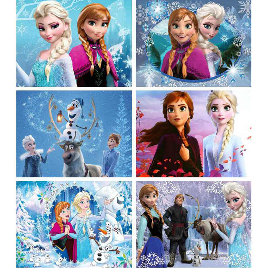 Disney diy elmas boyama karikatür çapraz dikiş tam yuvarlak elmas nakış buz kardeş Elsa & Anna elmas mozaik dekor hediye