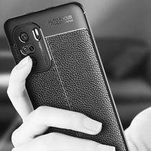 pebbled Leather Texture Back Case For Poco F3 Xiaomi Redmi K40 Pro Matte Frosted Soft TPU Silicone Protector Cover
