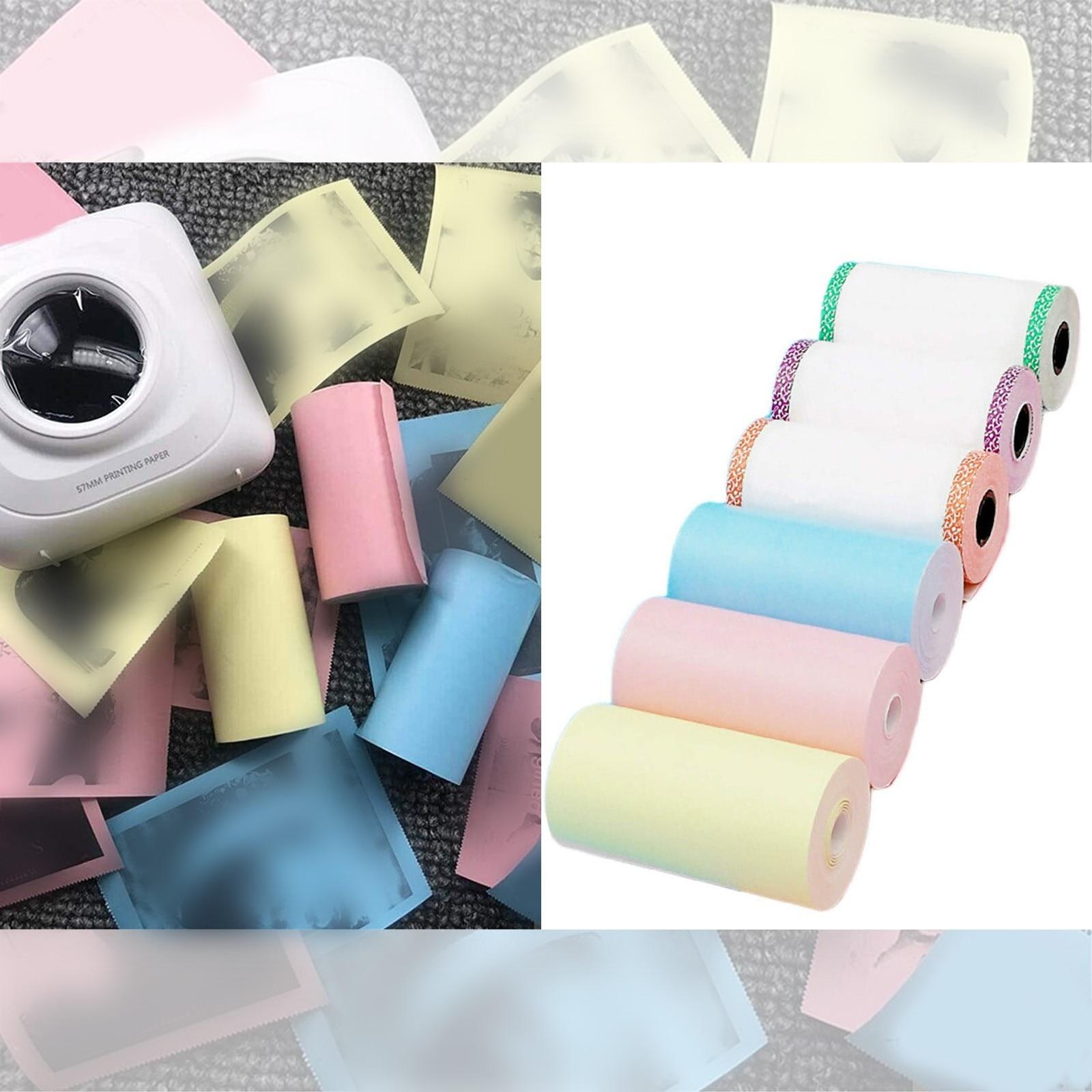 Bluetooth Контролируемая термобумага для принтера маленькая и портативная фотобумага 57 мм x 30 мм мобильный мини фотоинструмент