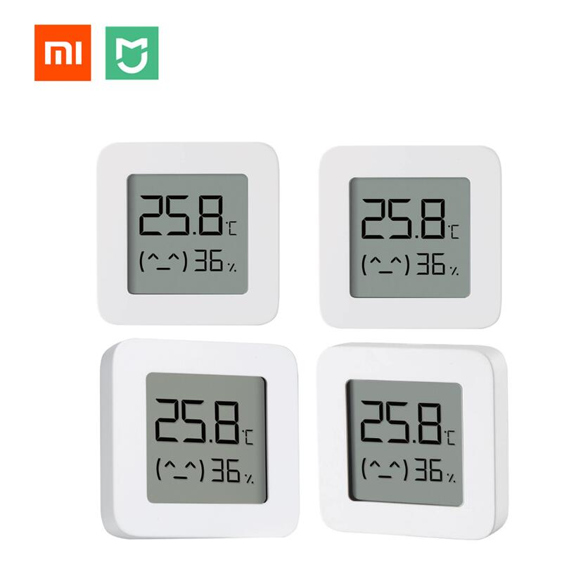 Xiaomi Smart LCD Screen Digital Thermometer 2 Mijia Bluetooth Temperature Humidity Sensor Moisture Meter Mijia App Bundled Sale
