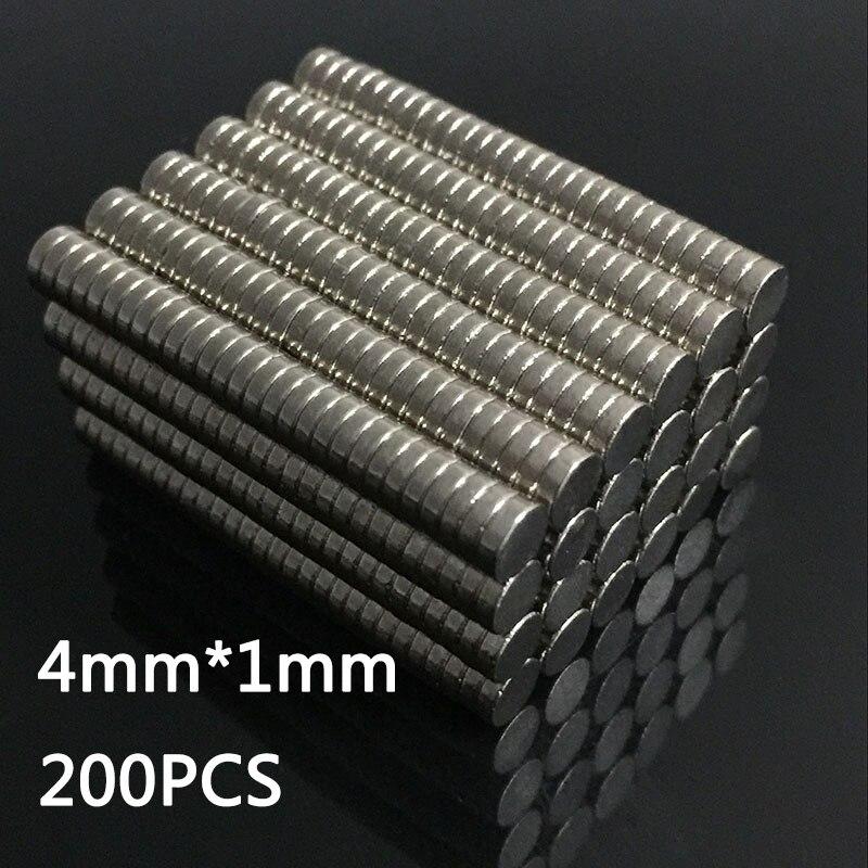 200 шт/400 шт супер сильные неодимовые магниты Редкоземельные постоянные магниты N35 дисковый на холодильник ремесло(это маленькие магниты - Цвет: 4mm x 1mm(200pcs)