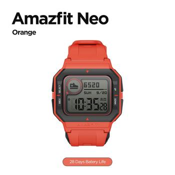 NEW 2020 Amazfit Neo Smart Watch Bluetooth Smartwatch 5ATM Heart Rate Tracking 28Days Battery Life Watch For Android IOS Phone 9