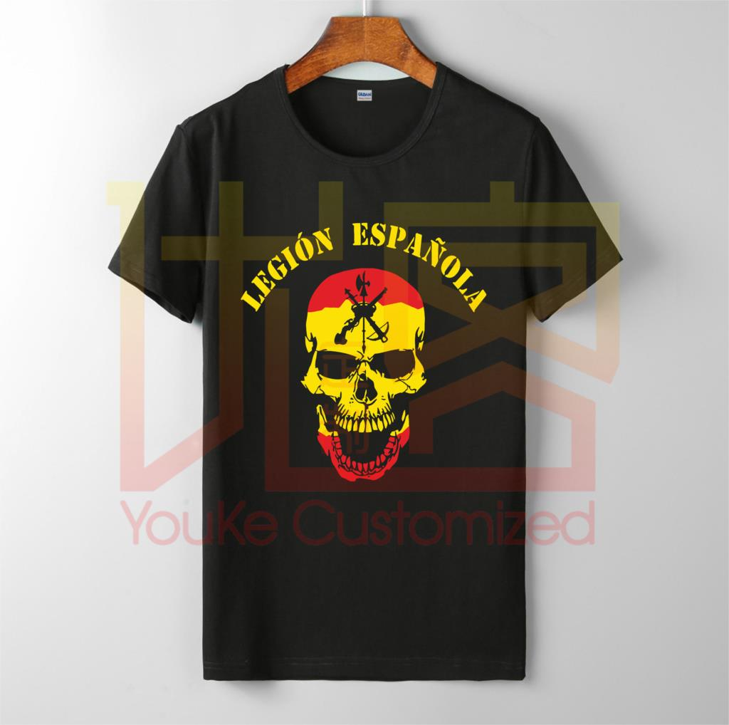 Legion Espanola Viva La Muerta Spanish Legion Foreign - T Shirt Mens Fashion Brand O-Neck 100% Cotton Custom Printed T-Shirt