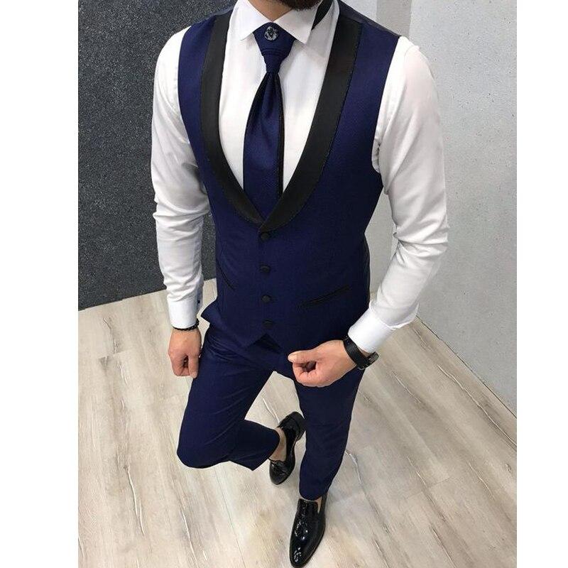Vests-for-Wedding-Black-Lapel-Business-Suit-Vest-Royal-Blue-Mens-Vest-Italian-Formal-Party-Dress