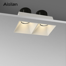 Replaceable-Module Spot-Light Led-Recessed-Downlight Frameless Double-Head Aisilan Anti-Glare