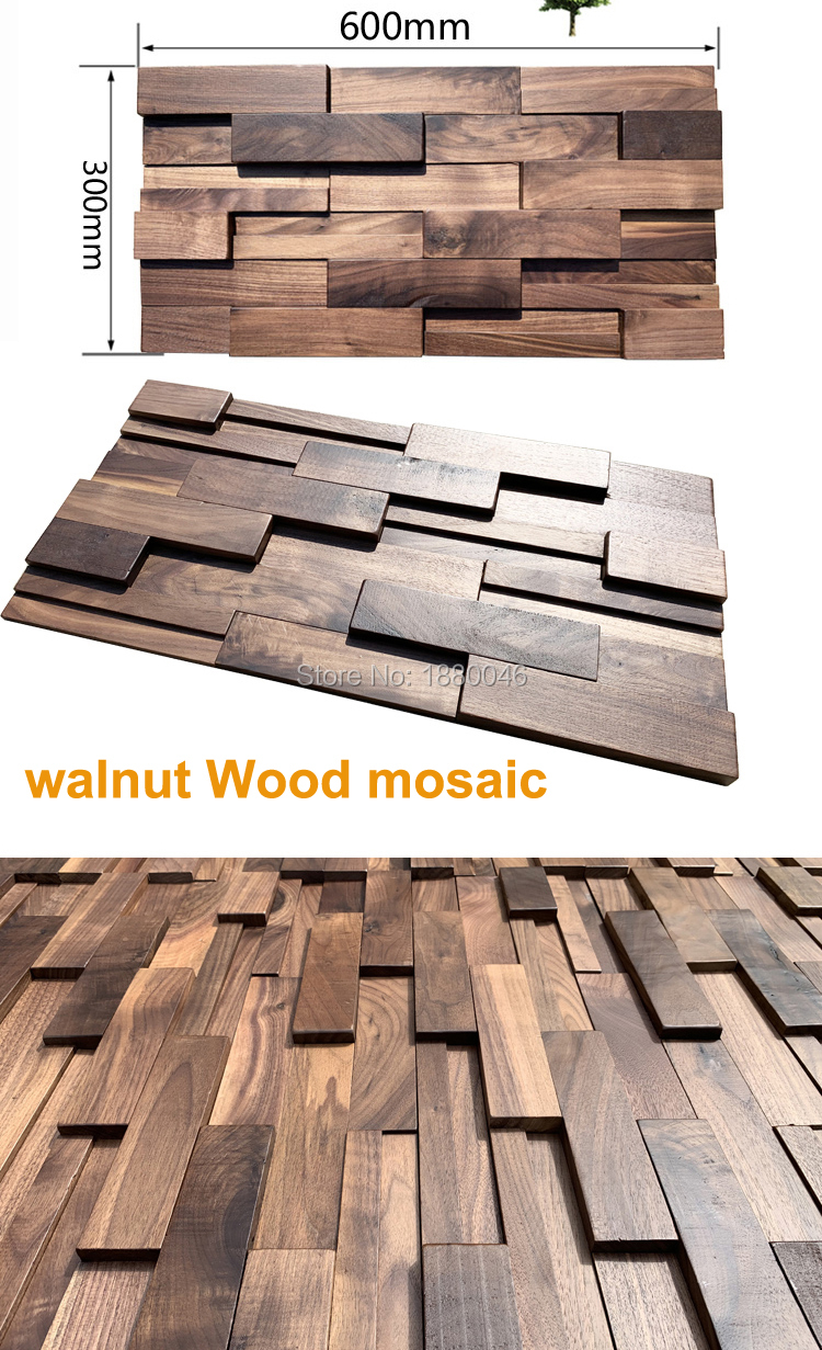 Mosaic Wall Tiles Wood Panels
