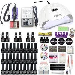 Комплект гель-лака 120/54 Вт, 30/20 шт., УФ-лампа для сушки ногтей, электрическая дрель для маникюра, инструменты для нейл-арта
