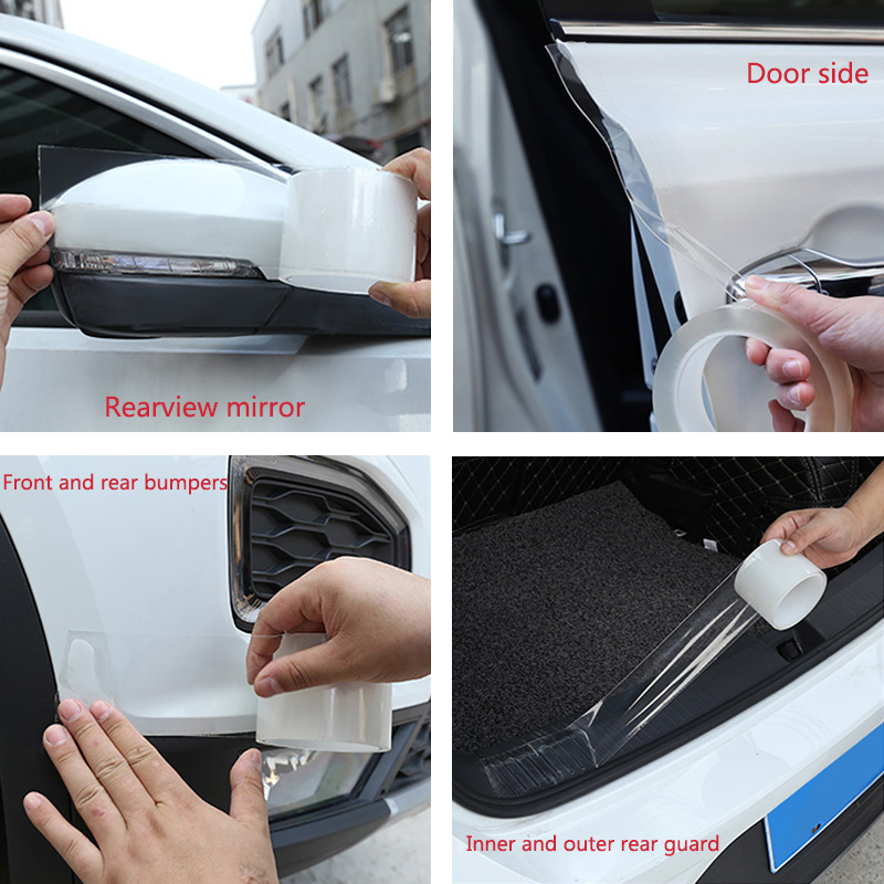 Car Stickers Auto Interior Protector Film Door Edge Protective Car Trunk Door Sill Full Body Sticker Vinyl Accessories Nano Glue in Car Stickers from Automobiles Motorcycles