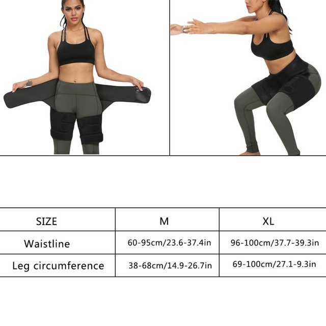 1pc Slim Thigh Trimmer Waist Shapers Slender Slimming Belt Sweat Shapewear Toned Muscles Band Thigh Slimmer Wrap 12 4