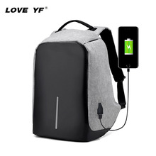 Student backpack smart bag USB charging anti-theft backpack bag 15.6-inch laptop bag casual bag Boys Girls Satchel Mochila