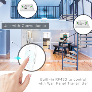Image 5 - RF433 WiFi Smart Wall Touch Switch No Neutral Wire Needed Smart Single Wire Wall Switch Work with Alexa Google Home 170 250V