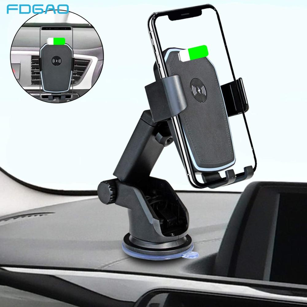Mount-Phone-Holder Car-Charger iPhone Xs Wireless Huawei Xiaomi Samsung S10 FDGAO 10W