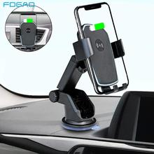 FDGAO Fast 10W Wireless Car Charger Mount Phone Holder Air Vent For iPhone XS Max XR X 8 Samsung S10 S9 Note 10 9 Huawei Xiaomi