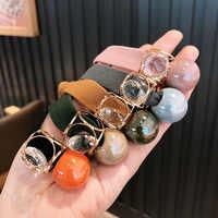 ¡Nueva DE COREA DEL 2020! ¡venta al por mayor! Bandas elásticas de goma con perlas de cristal para mujer, accesorios para el cabello para niñas