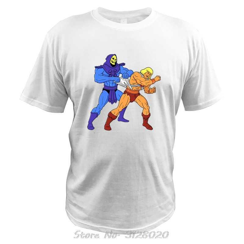 Masters Of The Universe T Camicia di He-Man Skeletor Super Hero Film Maglietta Degli Uomini Manica Corta Wedgie Uomini Divertenti T-Shirt in cotone