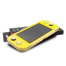 Funda protectora de cristal brillante fluorescente para Nintendo Switch Lite, carcasa trasera suave para Mini consola NS