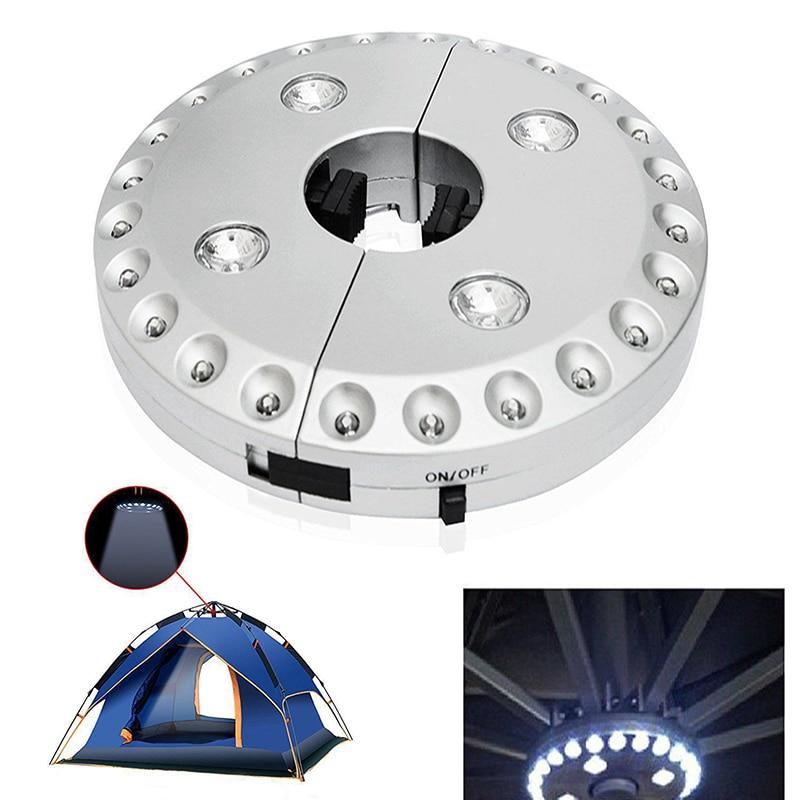 MeterMall 24+4LED Detachable Camping Tent Lamp Patio Umbrella Pole Light Outdoor Garden Yard Lawn Night Light
