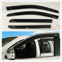 2.5 MM Window Visor Rain Guard Vent Sun Shade Deflector BLACK AWNINGS SHELTERS SUN VISOR  FIT FOR NAVARA NP300 2014-2017